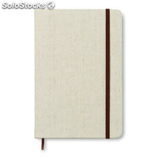 Notebook con cover in canvas MO8712-13, beige
