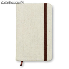 Notebook con cover in canvas MO8720-13, beige