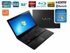 Notebook sony vaio vpcse15fb/b intel core i7-2640m, 6gb, 640gb, leitor de blu-ray, hdmi, amd radeon hd 6470m, led 15.5 e windows 7 home premium