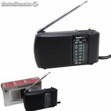 Nuevo radio portatil analogica am FM negra rs-2910