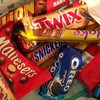 Nutella, Kinder Joy, Snickers, Mars, Bounty, Twix, Kitkat, kinder suprise