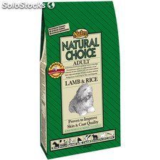Nutro natural choice adult cordero y arroz 12 kg.