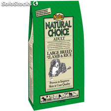 Nutro natural choice adult cordero y arroz razas grandes 12 kg.
