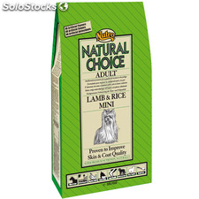Nutro natural choice adult cordero y arroz razas mini 7 kg.