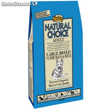 Nutro natural choice adult razas grandes pollo y arroz 12 kg.