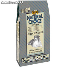 Nutro natural choice adult senior rico en pollo y arroz 2 kg.