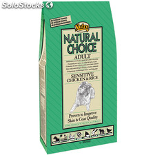 Nutro natural choice adult sensitive pollo y arroz 12 kg.