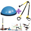 Oferta pack ponte en forma: Bosu Ball Kinefis + Kit Suspensión Kinefis Tipo trx: