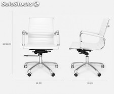 Office Chair 7 Low (varios colores) Blanco