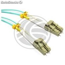OM3 Fiber Optic Cable LC to LC duplex 50/125 multimode 15m (FY68)