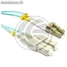 OM3 Fiber Optic Cable LC to SC duplex 50/125 multimode 15m (FY88)