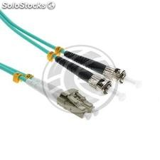 OM3 Fiber Optic Cable LC to ST duplex multimode 50/125 25m (FY80)