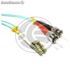 OM3 Fiber Optic Cable LC to ST duplex multimode 50/125 2m (FY73)