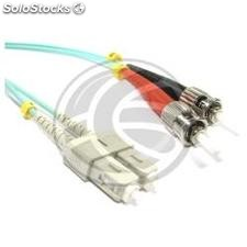 OM3 Fiber Optic Cable ST to SC duplex 50/125 multimode 15m (FY58)
