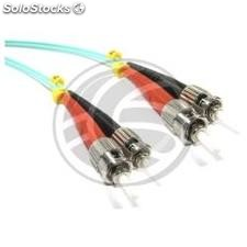 OM3 Fiber Optic Cable ST to ST multimode duplex 50/125 25m (FY50)