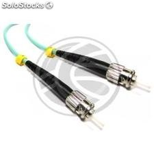 OM3 Fiber Optic Cable ST to ST multimode simplex 50/125 25m (FY20)