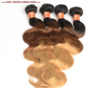 Ombre Virgin Brazilian Brazilian Hair corps vague de tissage de cheveux tricolor