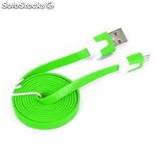 Omega Cable plano microUSB-usb 2.0 tablet 1M Verde