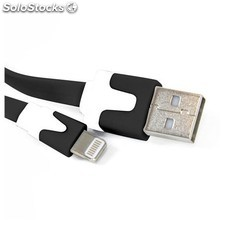 Omega - ouiplb usb a Lightning Negro, Color blanco cable usb