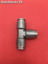 One touch coupling swivel Tees quick push in fittings pneumatic stainless steel