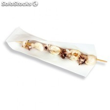 Open pack.sachet ouvert brochettes, hot dogs 22x7,2 cm blanc papier