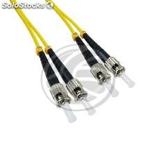Optic fiber Cable ST to ST Singlemode Duplex 9/125 7m (FD25)