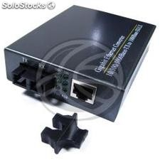 Optical Fiber Converter 1000 Mbps single mode 20Km SC to RJ45 (UF33)