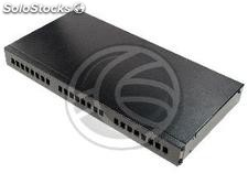 Optical Fiber Patch Panel 1U for 24 SC black (FQ04-0002)