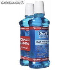 Oral b enjuague bucal pro expert 24H sabor menta fresca 2X500ml 579996