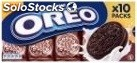 Oreo chocolate creme sandwich biscuit 10 snack packs 220G