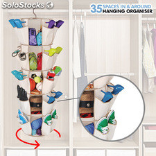 Organizador de Zapatos y Complementos In & Around, con 30 bolsillos laterales y