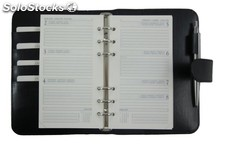 Organizer A6 Black Bonded Leather