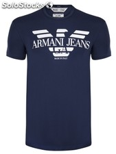 Original Armani jeans Herren t-shirt W2015/47 Navy New