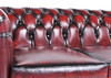 Original Canapé Chesterfield Antique Rouge 4 places - Photo 3