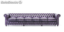 Original Canapé Chesterfield Antique Violet 5 places