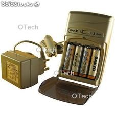 OTech Chargeur ultra rapide - 4 accus 2500 mAh Sanyo