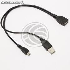 OTG Cable MicroUSB powered for SmartPhones and Tablets (MH25)