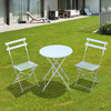 Outsunny conjunto de muebles plegable para jardín terraza o patio - color blanco