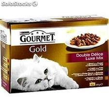 Pack 12X85G double delice gold gourmet