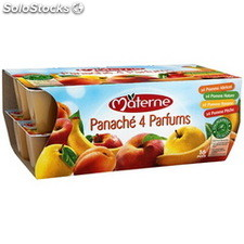 Pack 16X100G simple & vrai compote panache materne