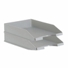 Pack 2 bandejas apilables - fondo liso - 350x258x65 mm - gris -