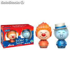 Pack 2 figuras Dorbz The Year without a Santa Claus Heat Miser & Snow Miser