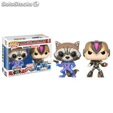 Pack 2 figuras POP! Capcom vs Marvel Rocket vs MegaMan X Exclusive