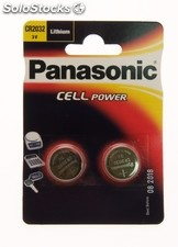 Pack 2 Pilas de Litio Panasonic CR 2032 3V