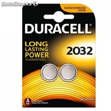Pack 2 pilas duracell litio boton DL2032 - 3V