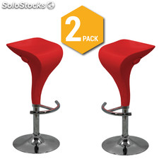 Pack 2 Taburetes Altos Swan - Color Rojo