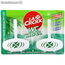 Pack 2X40G cuvette javel lacroix wc