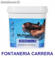 PACK 3 Cloro de piscina multiaccion AstralPool Multifuncion 5kg, tabletas 250g