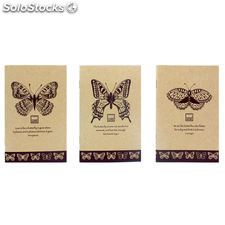Pack 3 cuadernos Butterfly surtido