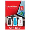 pack 3 pendrives sandisk cruzer blade sdcz50-008g-b46t - 8gb - usb 2.0 - colores